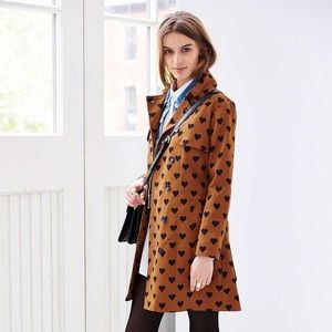 URBAN OUTFITTERS HEART TRENCH COAT